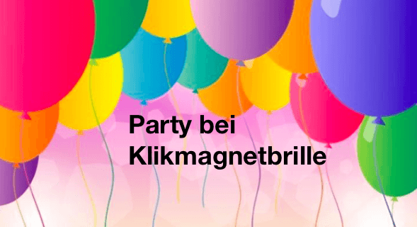 party bei klikmagnetbrille